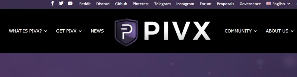 Pivx landingpage