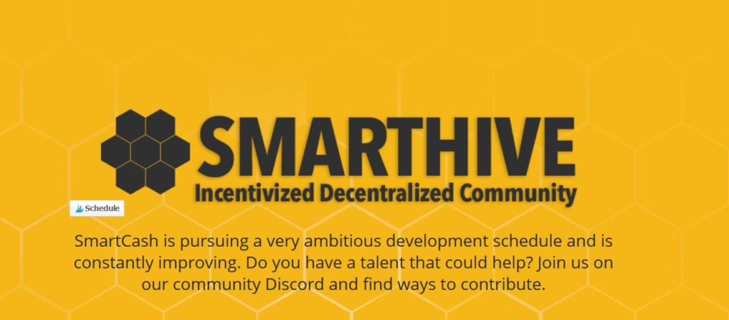 SmartCash masternode landingpage