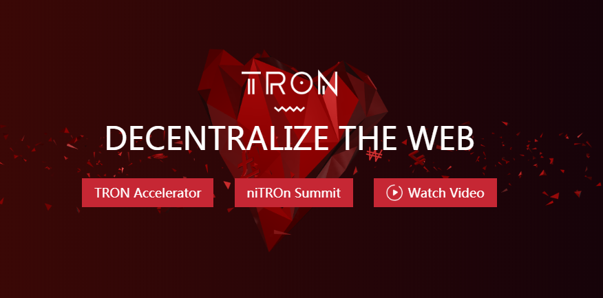 TRON decentralize the web