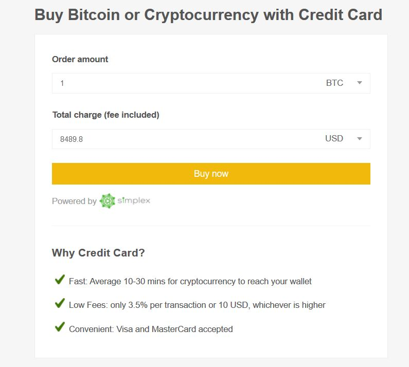 Binance buy credit card