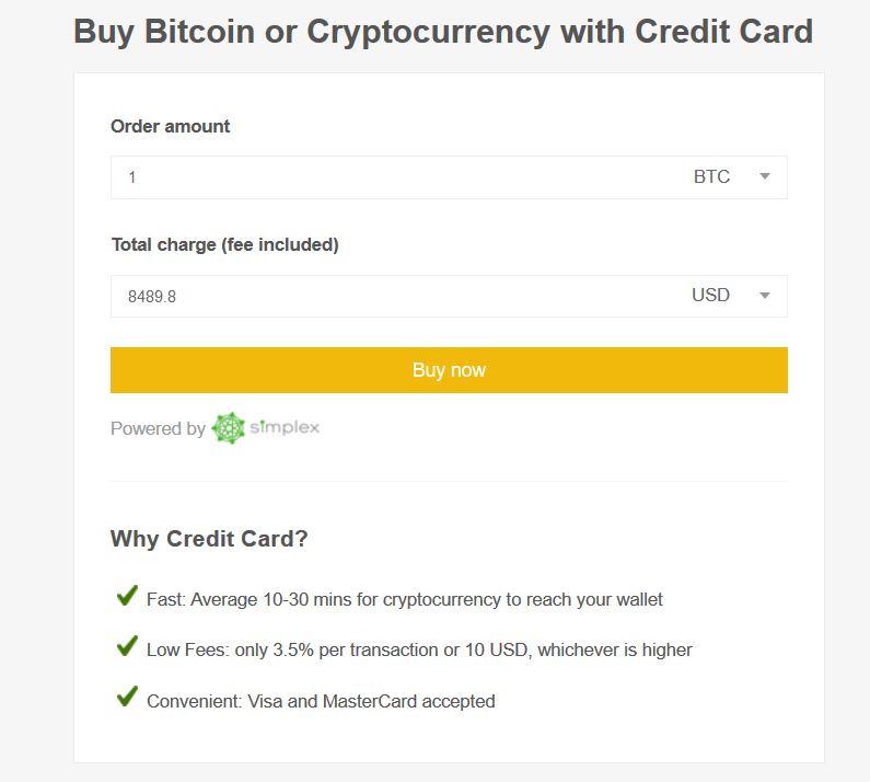 Binance buy Bitcoin creditcard