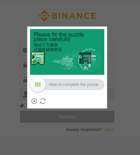 Buy Litecoin Binance solve puzzle