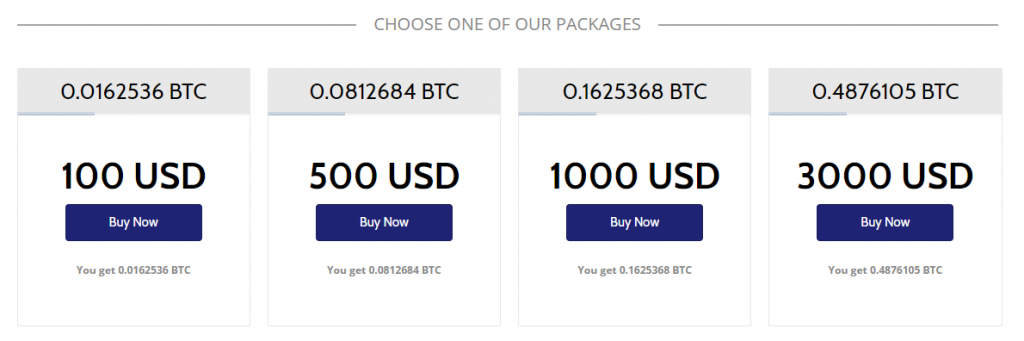 Coinmama buy Bitcoin packages