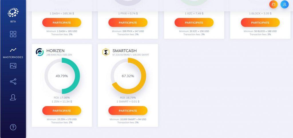 Smartcash masternode participate & passive income