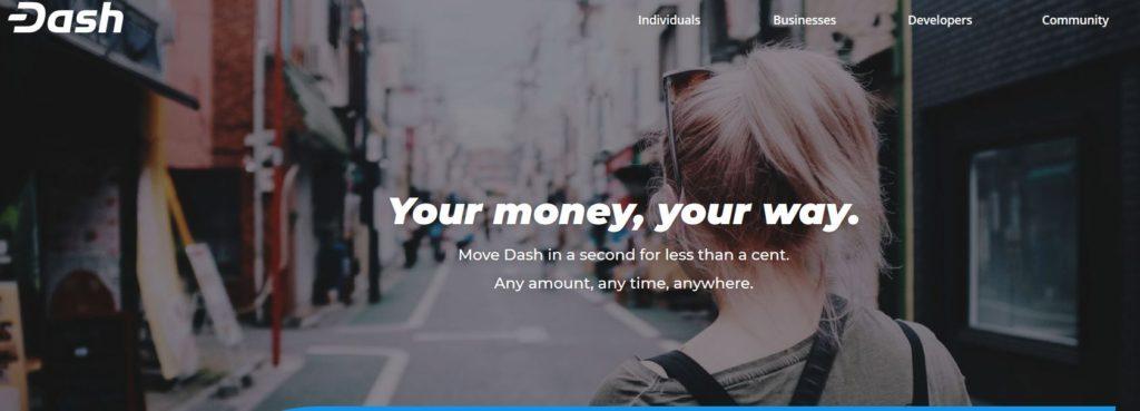 Dash masternode landing page