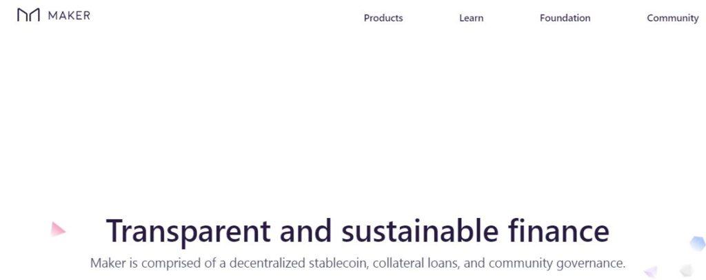 Decentralized Finance MakerDao blockchain
