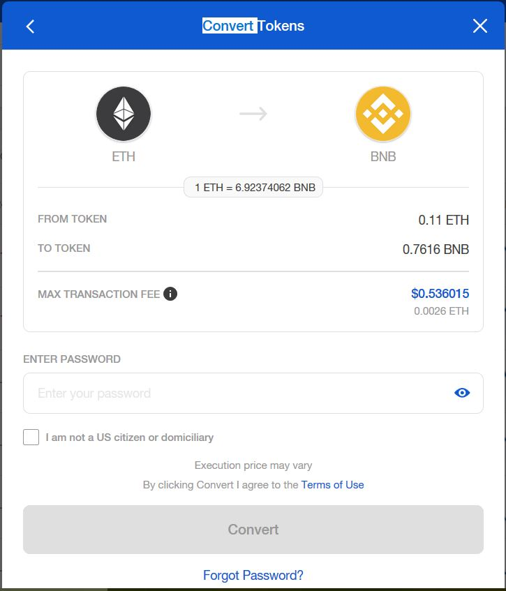 How to buy ERC20 tokens set password