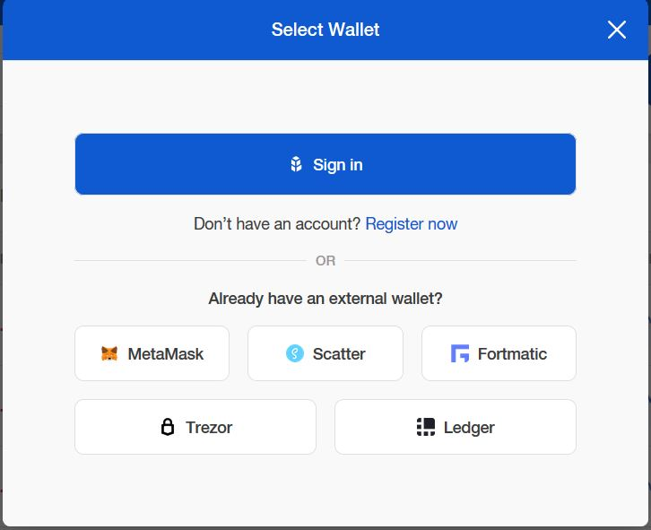 How to buy ERC20 tokens select wallet