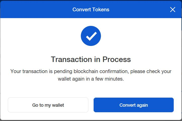 How to buy ERC20 tokens transaction in process
