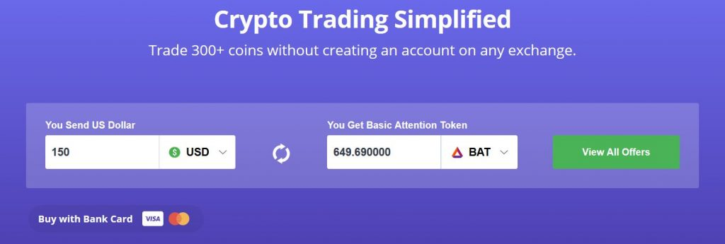 Buy BAT cryptocurrency with Coinswitch