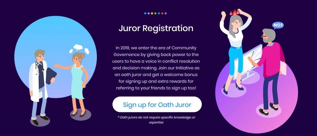 Oath protocol review Juror registration