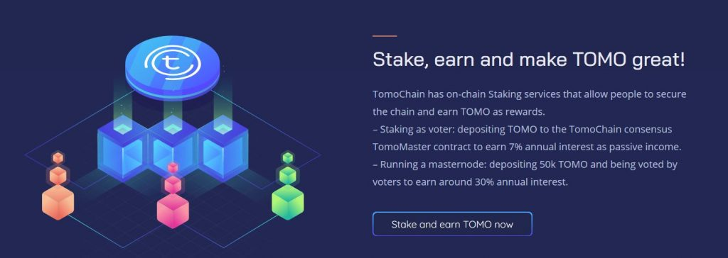 Stake and earn with Tomochain blockchain