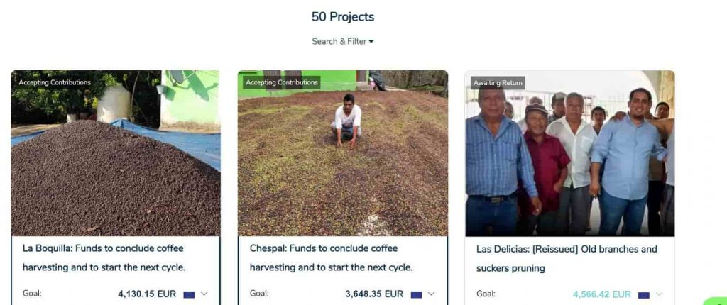 Crowdlending for agricultural projects