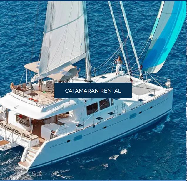 tourists can rent catamaran with Yachtco blockchain