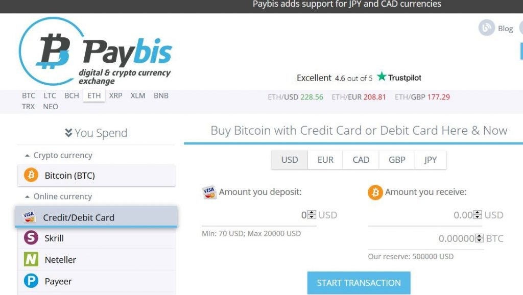 Get Bitcoin fast with PayBis