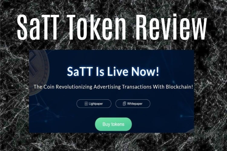 SaTT Review with advertising