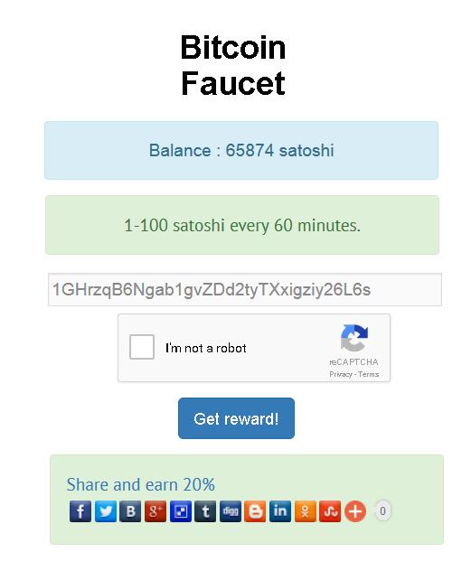 Bitcoin/Altcoin Faucet