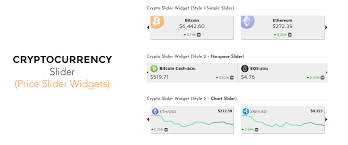 Cryptocurrency widget with price ticker