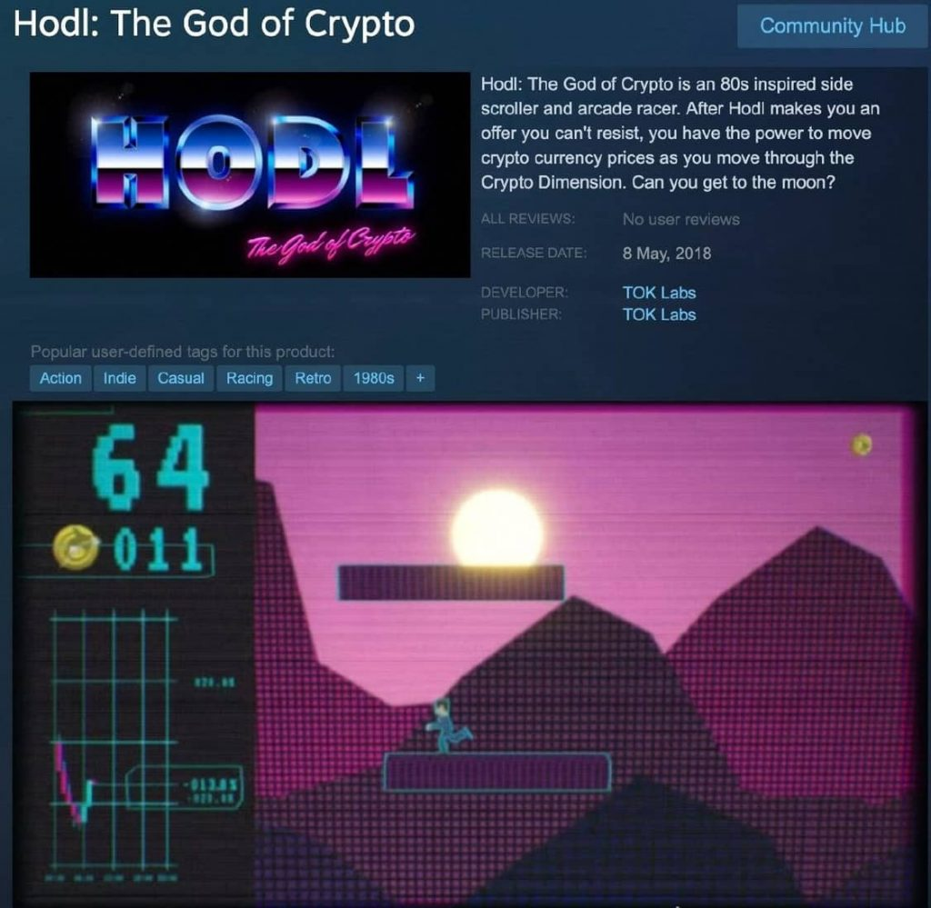 Blockchain game HODL: The god of Crypto