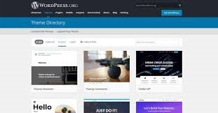 Selecting themes in WordPress