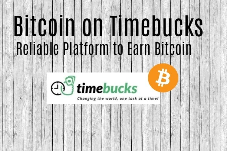Bitcoin on Timebucks