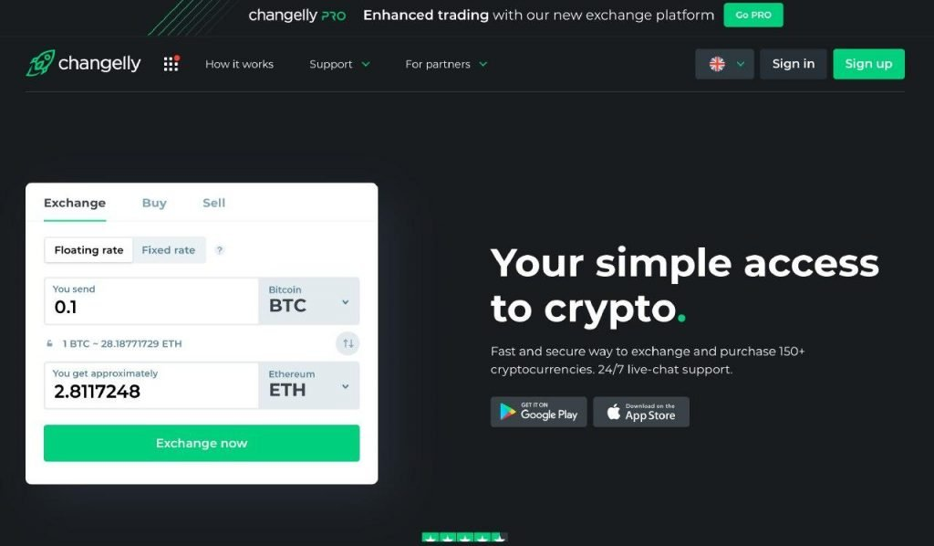 Buying cryptocurrency instantly with Changelly