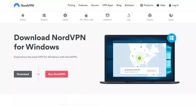 Download NordVPN application