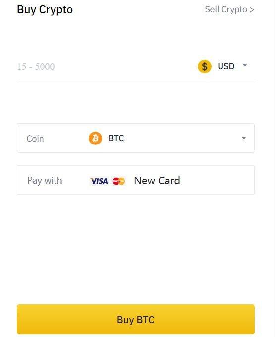 Buy Bitcoin on Binance with USD