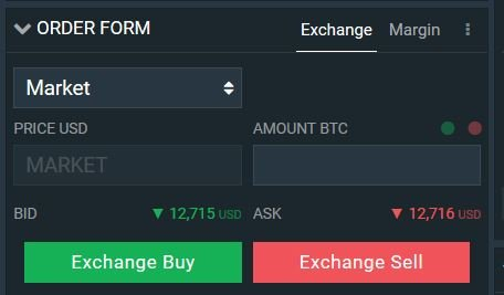 Buying crypto on Bitfinex with a MARKET order