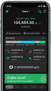 Moonlet wallet interface