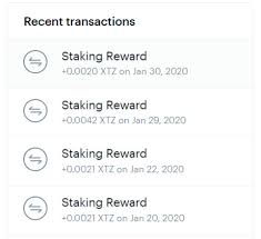 crypto lending vs staking: XTZ staking rewards