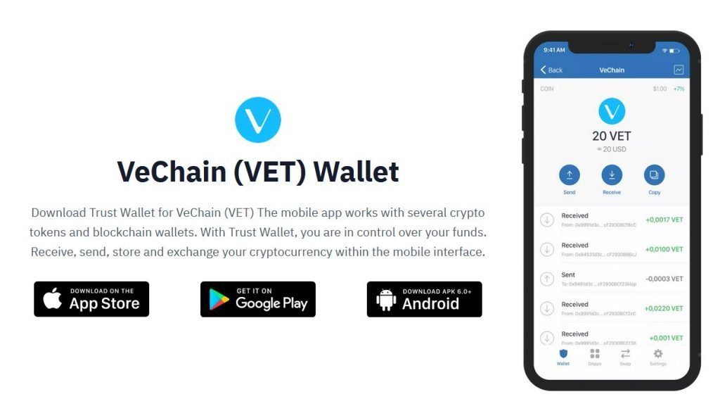 Staking VET with Trust wallet