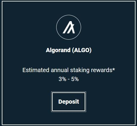 Bitfinex offers ALGO staking
