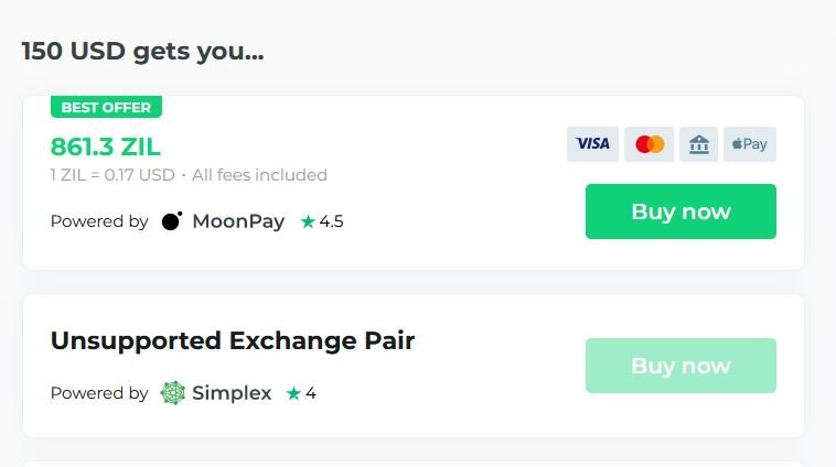 Buy ZIL with Changelly