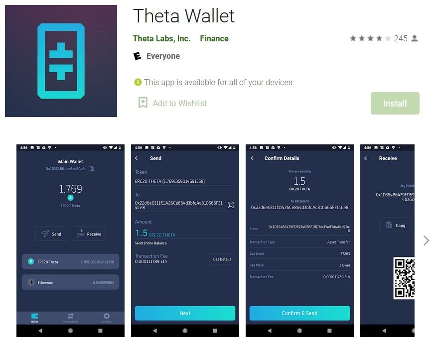 Theta Wallet App for Android