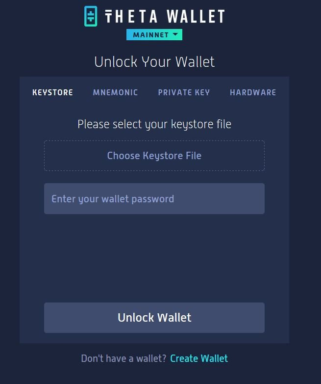 Theta Web Wallet
