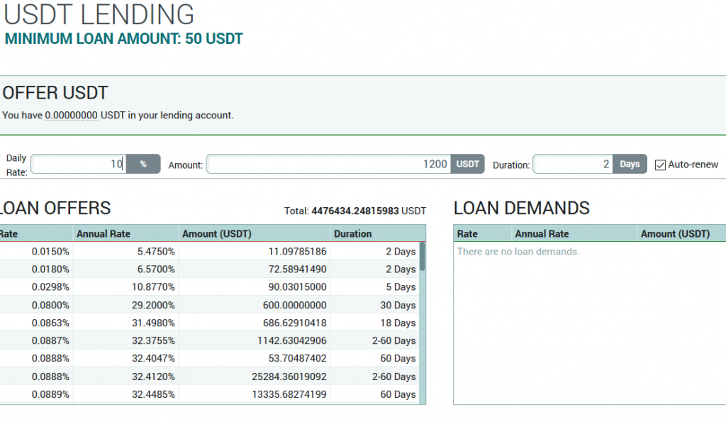 staking stablecoins on Poloniex