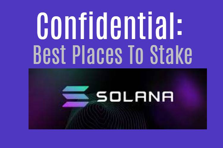 Best places to stake Solana