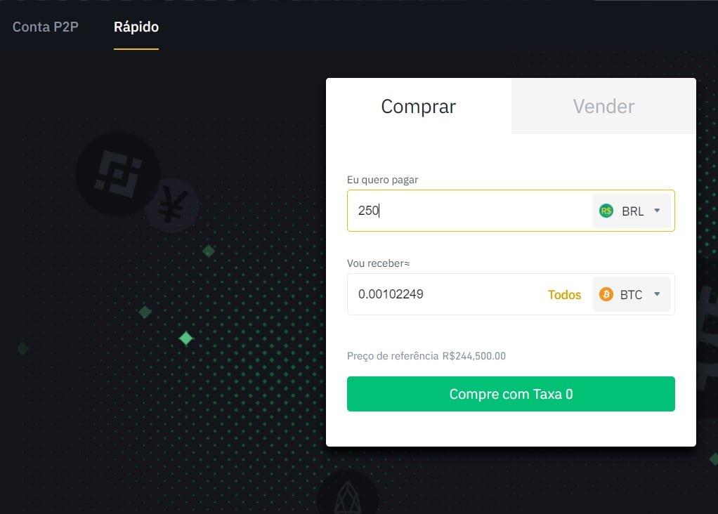Comprar Bitcoin com BRL a Binance P2P