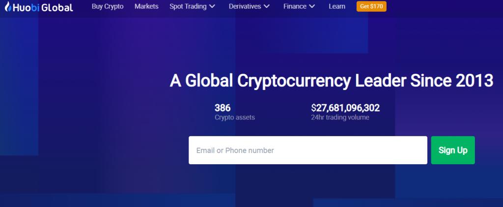 Huobi crypto exchange